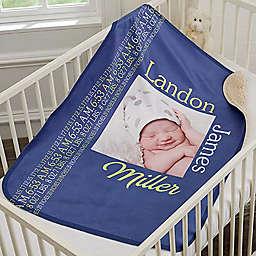 Darling Baby Premium Sherpa Photo Blanket