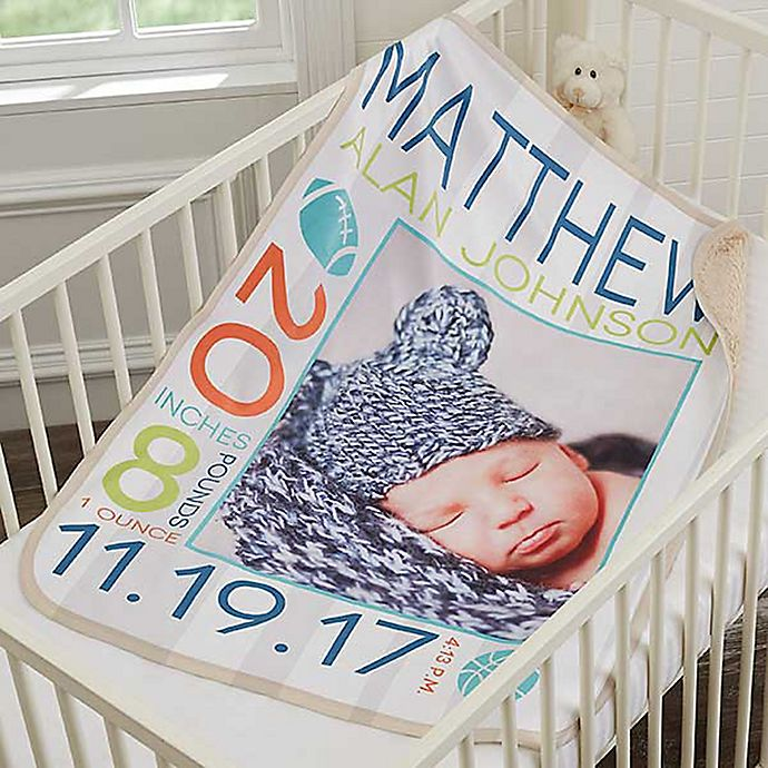 Alternate image 1 for Sweet Baby Premium Personalized Photo Blanket Collection