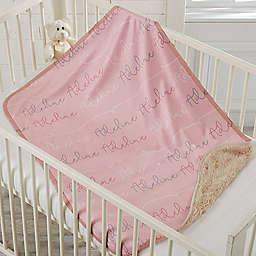 Modern Name Sherpa Baby Blanket