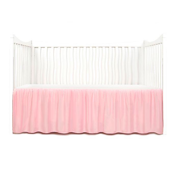 Alternate image 1 for Tadpoles™ Crib Skirt in Pink