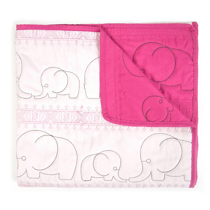 Alternate image 1 for Tadpoles™ Quilted Elephant Baby Blanket