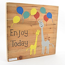 """Concepts In Time """"Enjoy Today"""" 12-Inch Square Wood Block Wall Art"""
