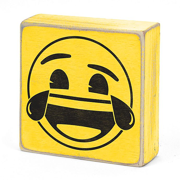 Alternate image 1 for Concepts In Time Laughing Emoji Wall Art