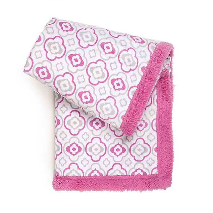 Alternate image 1 for Tadpoles™ Double Layer Plush Baby Blanket in Pink