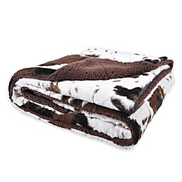 Sleeping Partners Oversized Cowhide Print Throw Blanket