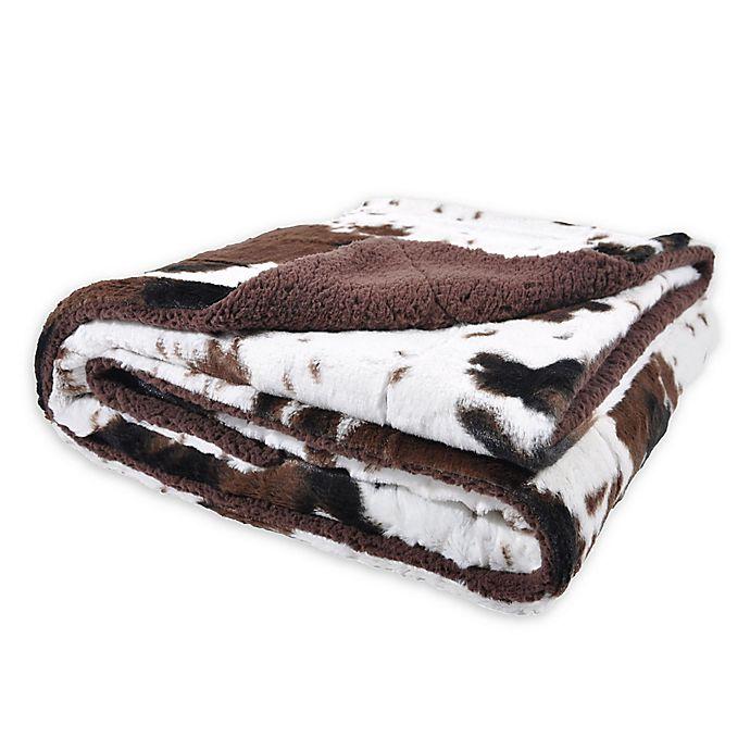 Alternate image 1 for Sleeping Partners Oversized Cowhide Print Throw Blanket