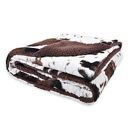Sleeping Partners Oversized Cowhide Print Throw Blanket