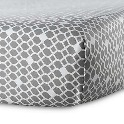 Oilo Diamond Crib Sheet in Stone