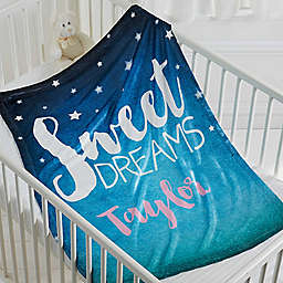 Sweet Dreams Baby Fleece Blanket