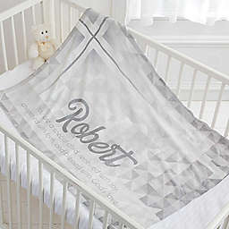 May You Be Blessed Christening Fleece Blanket
