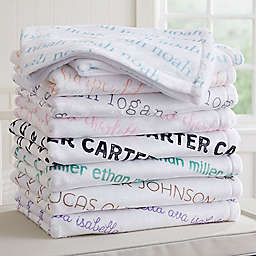 Playful Name Fleece Baby Blanket