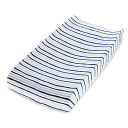aden + anais™ essentials Denim Wash Cotton Muslin Changing Pad Cover in Blue