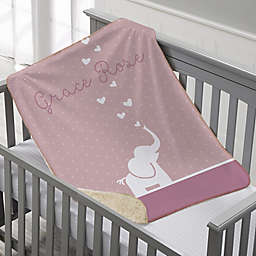 Baby Zoo Animals Premium Sherpa Throw Blanket
