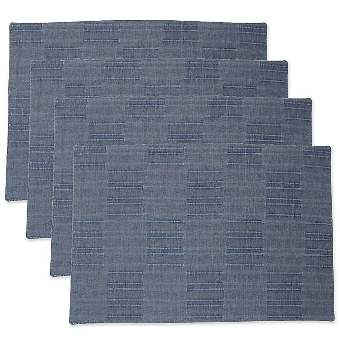 Alternate image 1 for Dansk® Matera Placemats in Denim (Set of 4)
