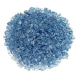 American Fireglass 0.25-Inch Non-Reflective Fire Glass in Pacific Blue