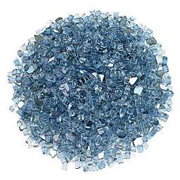 American Fireglass Reflective Fire Glass in Pacific Blue