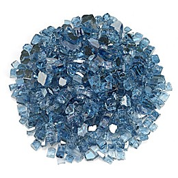 American Fireglass 0.5-Inch Reflective Fire Glass in Pacific Blue