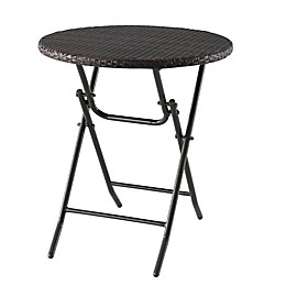 All-Weather Wicker Folding Bistro Table