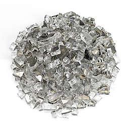 American Fireglass Starfire Reflective Fire Glass in Silver