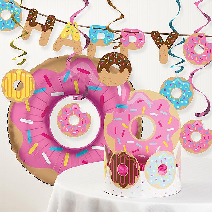Creative ConvertingTM 8 Piece Donut Time Birthday Party Decor Kit