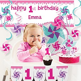 Creative Converting™ Turning One Girl's 1st Birthday Party Décor Kit