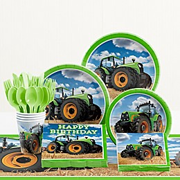 Creative Converting™ Tractor Time Birthday 81-Piece Table Kit