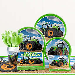 Creative Converting Tractor Time Birthday 81-Piece Table Kit