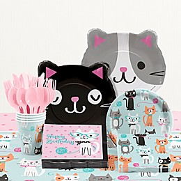 Creative Converting Purr-fect Cat Party Birthday 81-Piece Table Kit