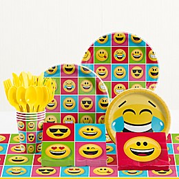 Creative Converting™ 81-Piece Show Your Emojions Birthday Party Tableware Kit