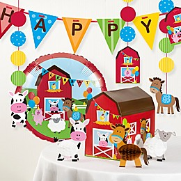 Creative Converting™ 9-Piece Farmhouse Fun Birthday Party Décor Kit
