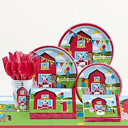 Creative Converting™ 81-Piece Farmhouse Fun Birthday Party Tableware Kit