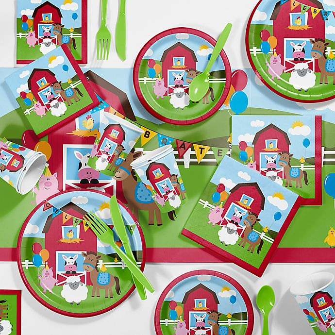 Creative ConvertingTM Farmhouse Fun Birthday Party Supplies Kit