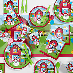 Creative Converting™ 81-Piece Farmhouse Fun 1st Birthday Party Tableware Kit