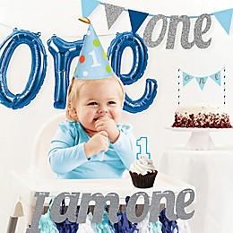 Creative Converting™ 6-Piece Boy's 1st Birthday Party Décor Kit