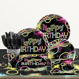 Creative Converting™ 81-Piece Glow Birthday Party Tableware Kit