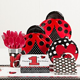 Creative Converting™ Ladybug Fancy 1st Birthday Party Supplies Kit