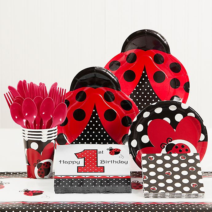Creative ConvertingTM Ladybug Fancy 1st Birthday Party Supplies Kit
