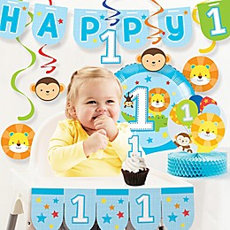 "Creative Converting™ 10-Piece ""One is Fun!"" Boy 1st Birthday Decor Kit"