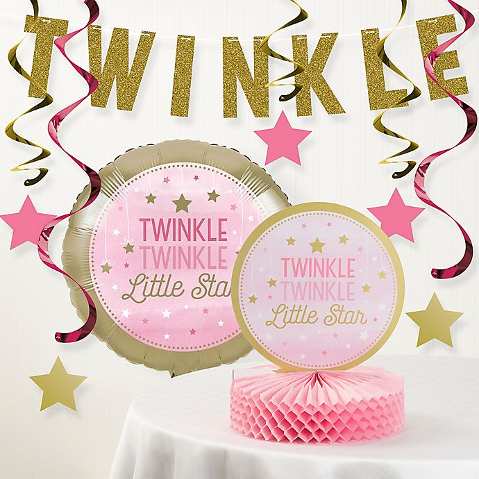 Alternate image 1 for Creative Converting™ 8-Piece One Little Star Girl 1st Birthday Party Decor Kit