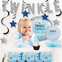 Creative Converting™ 10-Piece One Little Star Boy 1st Birthday Party Decor Kit