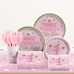 Creative Converting™ 81-Piece One Little Star Girl 1st Birthday Party Tableware Kit