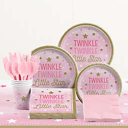 Creative Converting™ 85-Piece One Little Star Girl 1st Birthday Party Tableware Kit