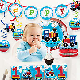 Creative Converting™ 10-Piece All Aboard 1st Birthday Party Décor Kit
