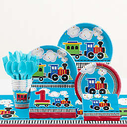 Creative Converting™ 81-Piece All Aboard 1st Birthday Party Tableware Kit