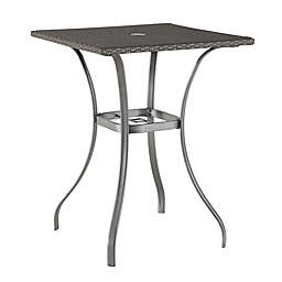Barrington Wicker High Dining Table with Umbrella Hole