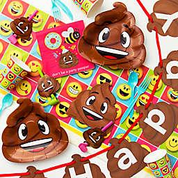 Creative Converting 90-Piece Poop Emojions Deluxe Birthday Tableware Kit