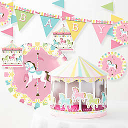 Creative Converting 6-Piece Carousel Baby Shower Décor Kit