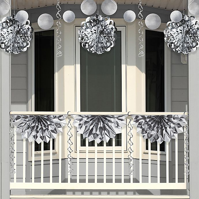 Alternate image 1 for Creative Converting 4-Piece Foil Party Decorations in Silver