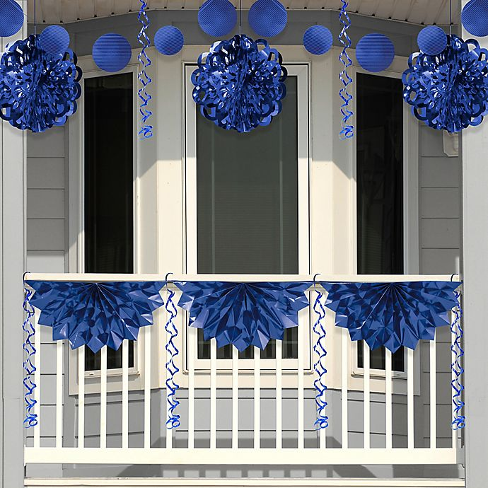 Alternate image 1 for Creative Converting 4-Piece Foil Decorating Kit in Blue