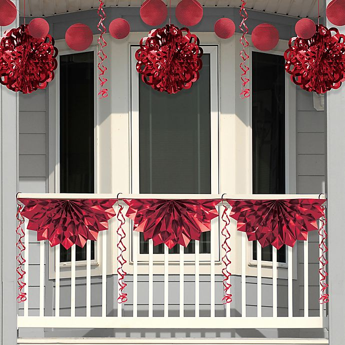 Alternate image 1 for Creative Converting 4-Piece Foil Party Decorations in Red